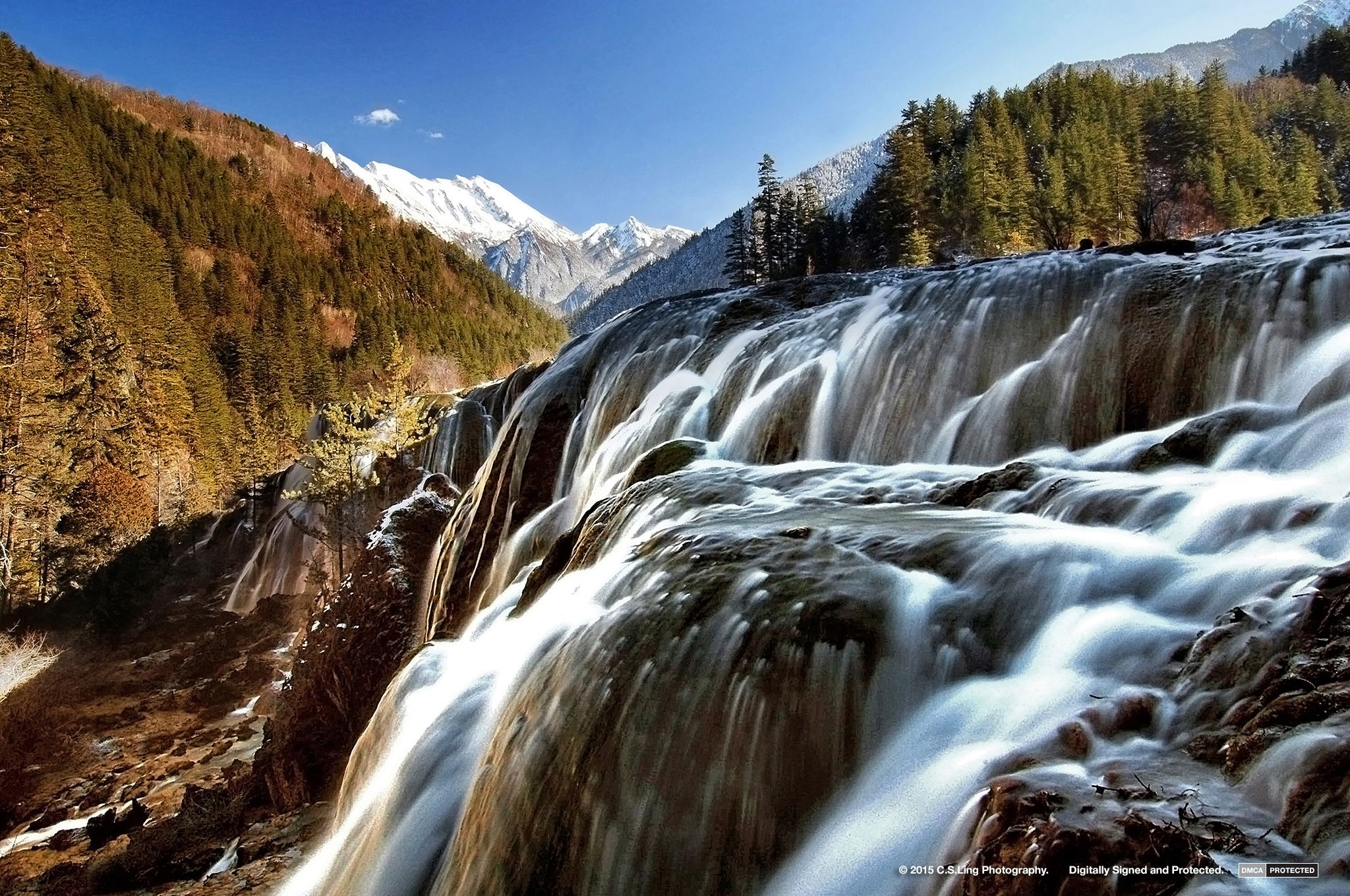 Waterfall at Jiu Zhai Gou | Top Asia Photographer C.S.Ling
